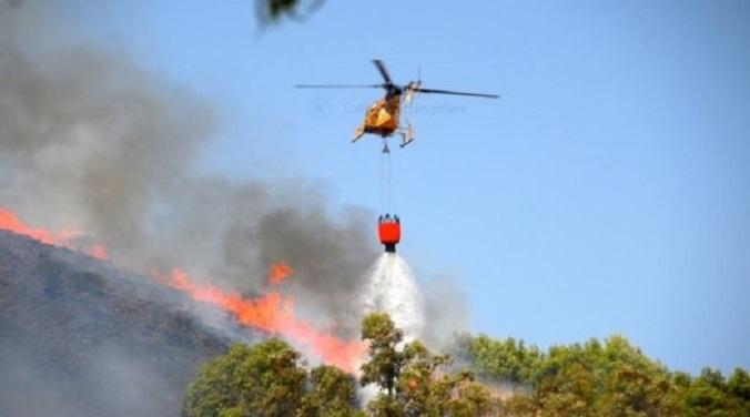 Incendio a Gonnesa undici luglio