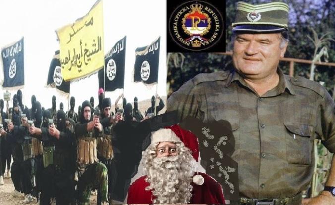 Babbo Natale terrorizzato da Isis e Mladic
