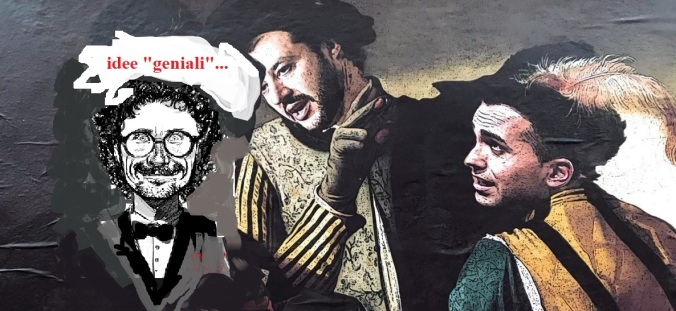 Toninelli Salvini e Di Maio