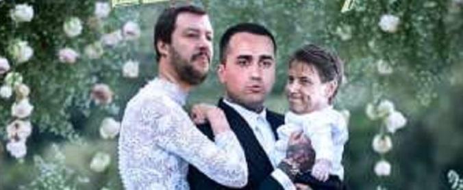 Salvini Conte Di Maio caricature